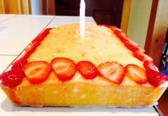 Gateau de lime et fraise